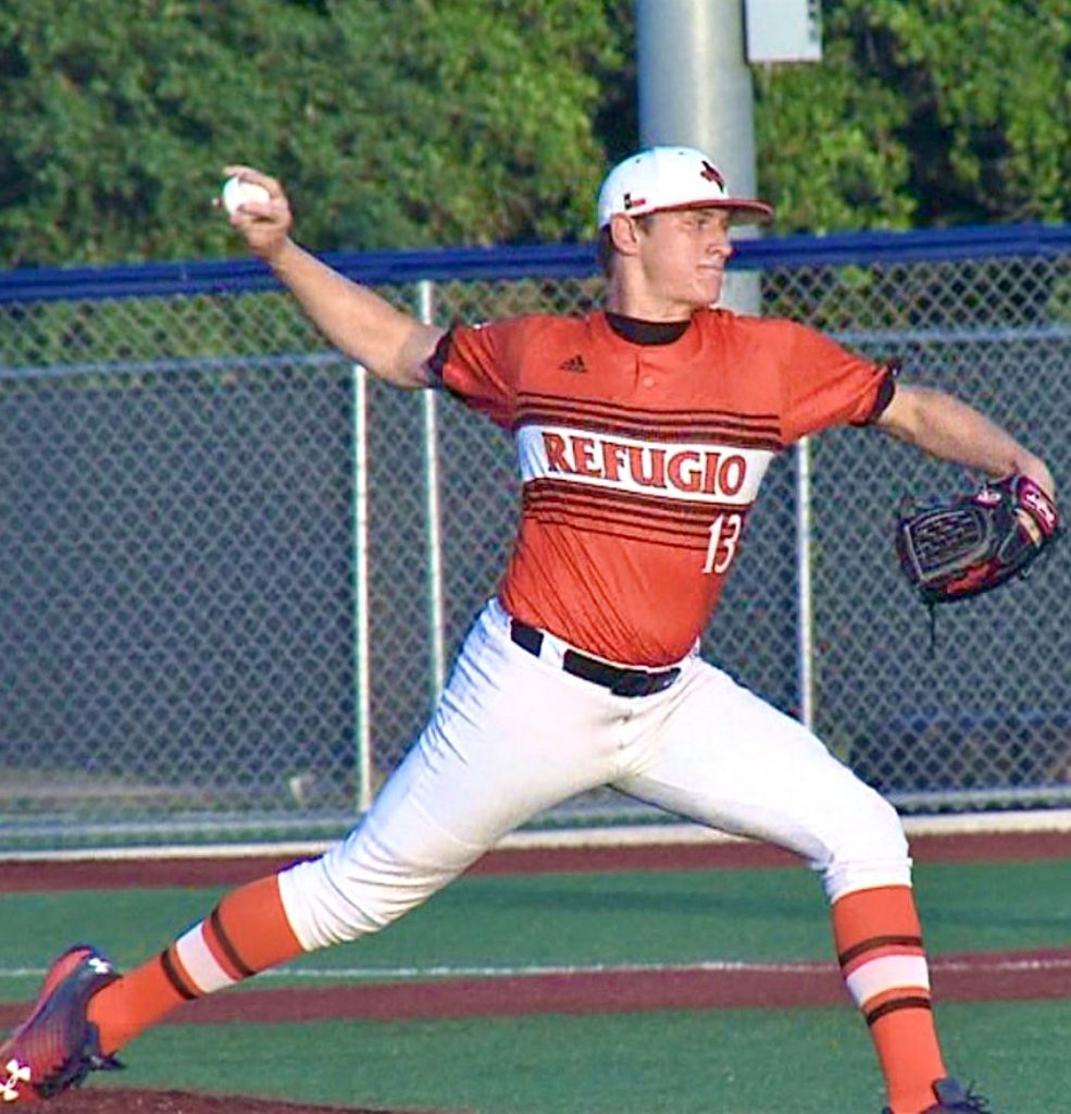 Jared Kelley RHP from Refugio High School White Sox